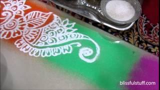 How to draw free hand rangoli design