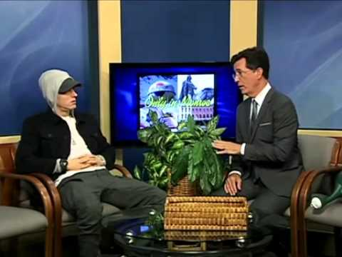 Stephen Colbert Interviews EMINEM in Strangest Interview Ever