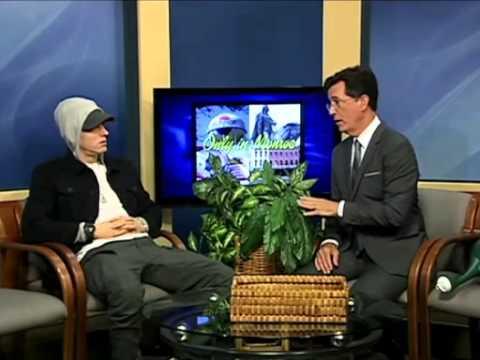 Stephen Colbert Interviews EMINEM in Strangest Interview Ever