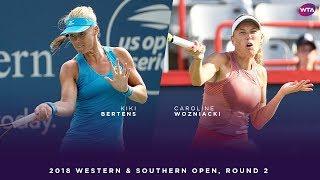Kiki Bertens vs. Caroline Wozniacki | 2018 Western & Southern Open Round Two | WTA Highlights