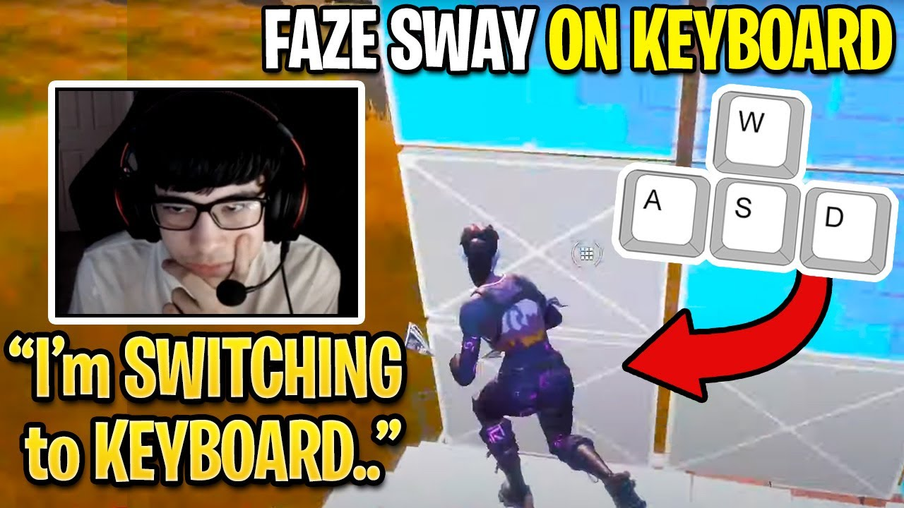 FaZe Sway Switches to Keyboard & Mouse then Shows his Maximum Editing Speed.. (Fortnite Season 3)