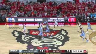 UNC Men's Basketball: Highlights vs. NC State