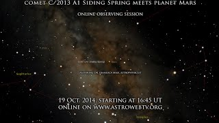 """Comet C/2013 A1 Siding Spring meets planet Mars: an historic live event"" - LIVE view"