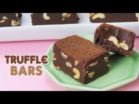 CHOCOLATE-PEANUT TRUFFLE BARS | Easy Recipe | Dessert | Baking Cherry