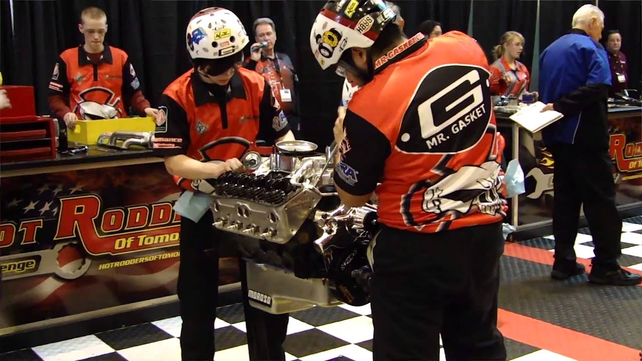 PRI 2013 - Hot Rodders of Tomorrow Challenge with Mr Gasket - YouTube