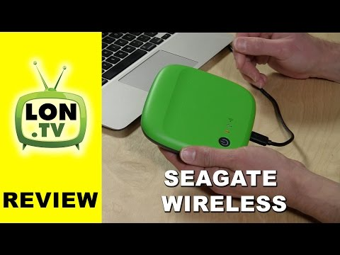 Seagate Wireless Mobile Portable Hard Drive Review - Stream Wirelessly to iPhone iPad Android