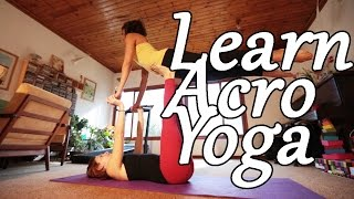 #1ABT: AcroYoga Beginner Tutorial - Front Bird