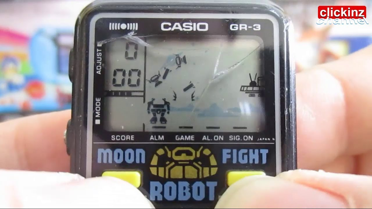 47294bcfa484 Casio GR-3 Moon Fight Robot Game   Watch 1984 Reloj Montre Uhr 見ます 看  смотреть lcd retro gameplay