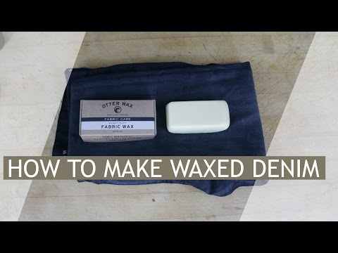 How To Wax Your Denim/Jeans | How To Create a Leather Jean Look