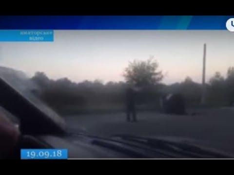 ТРК ВіККА: На Смілянщині легковик в'їхав у бетонну опору
