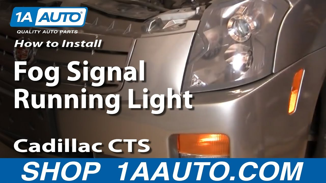 medium resolution of how to install replace fog signal running light cadillac used 2006 cadillac srx 2005 cadillac srx