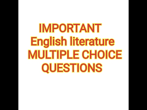 English Literature MCQs January 17, 2017