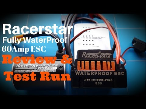 60Amp Racerstar Waterproof Brushless ESC Review and Test Run With 3650 Rc Motor