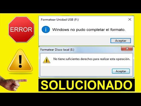 Windows NO Pudo Completar El Formato│No Puedo Formatear Mi USB│2 Métodos SOLUCIONADO