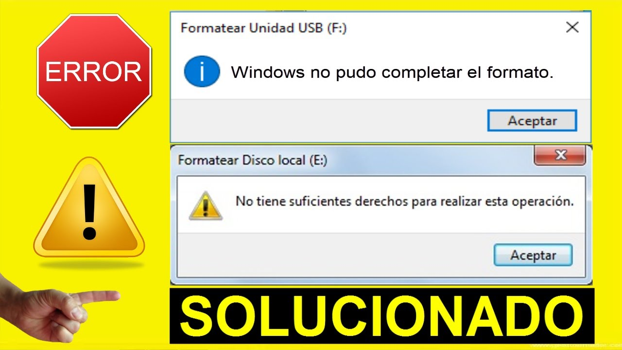 Windows No Pudo Completar El Formato No Puedo Formatear Mi Usb 2 Métodos Solucionado Youtube
