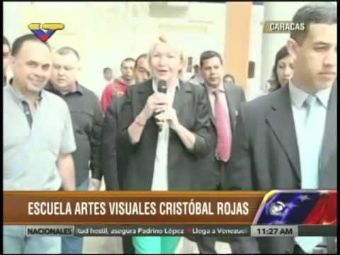 Inauguran espacios rehabilitados en la Escuela de Artes Cristóbal Rojas