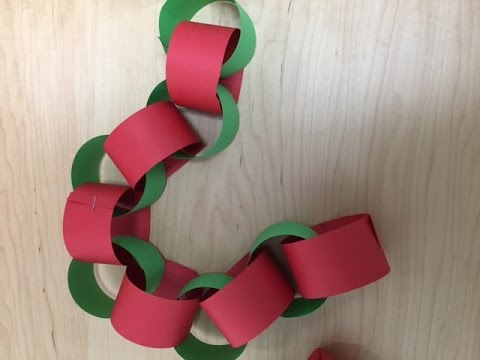 count down to christmas with this paper chain craft and decoration - Christmas Chain Decorations