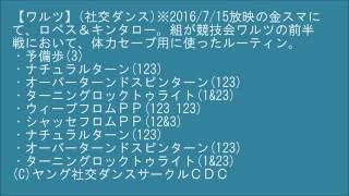 【ワルツ B2】(社交ダンス)※2016/7/15放映の金スマにて、ロペス&キンタ...