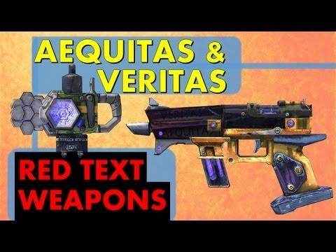 LVL 61 Aequitas & Veritas - Live Longer!   Red Text Weapons   Borderlands 2 Rare Unique Gun & Shield