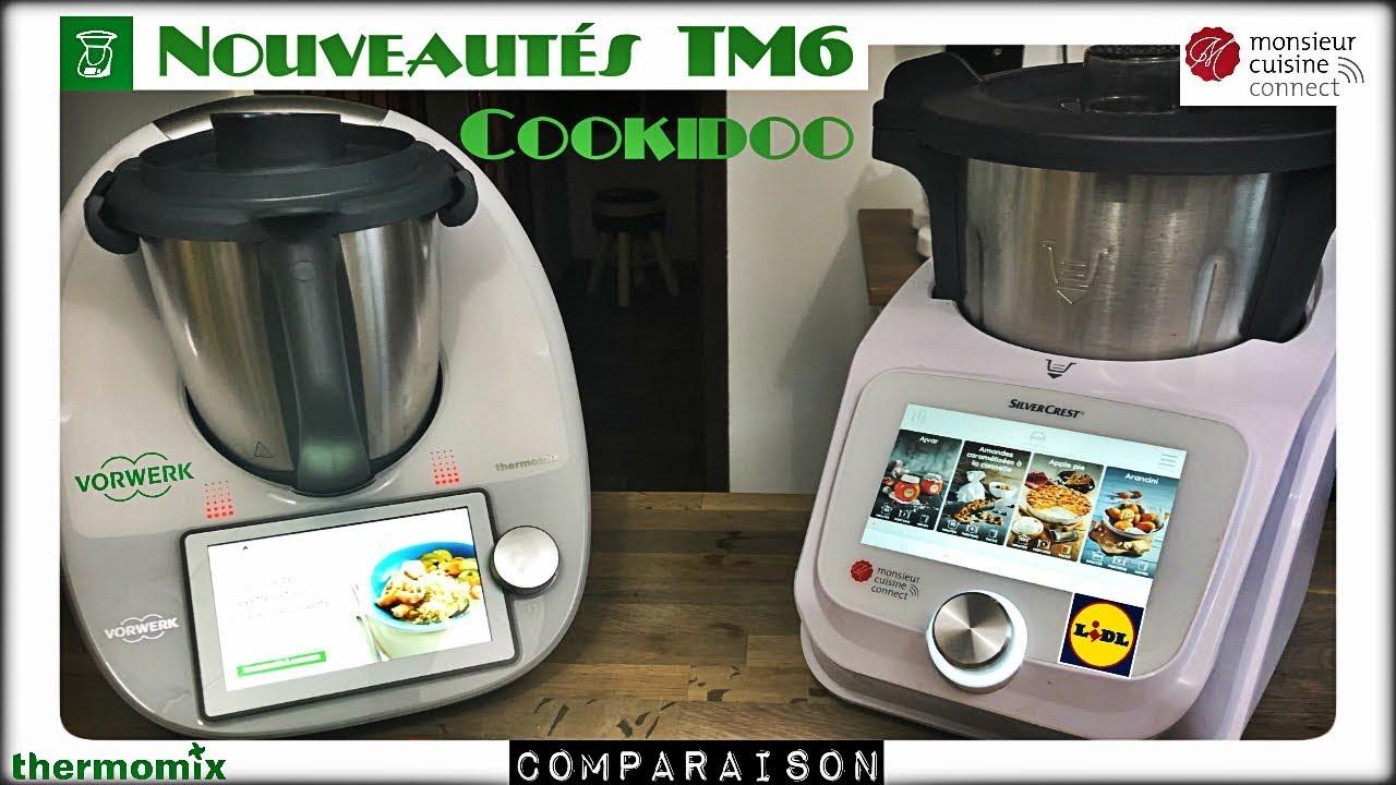 nouveautes thermomix tm6 cookidoo et monsieur cuisine connect sand cook look