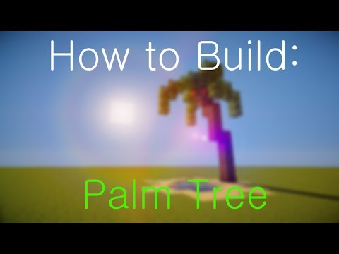 How To Build A Palm Tree Minecraft YouTube