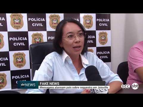 Fake News: mensagens alarmam pais sobre sequestro em Joinville