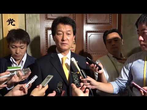 大島幹事長、二階自民党幹事長に野党4党要求を申し入れ