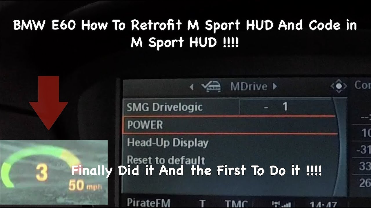 Bmw E60 E61 How To Retrofit Hud And Code In M5 Sport Hud Very Easy And Simple Heads Up Display Youtube