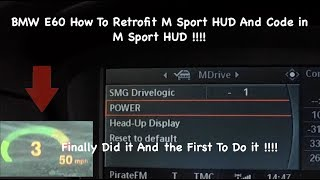 BMW E60 E61 How To Retrofit Hud And Code in M5 Sport HUD Very Easy And Simple!!! Heads Up Display