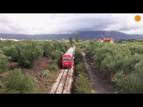 MAN1 DMUs on Local service at Kalamata-Messini line.