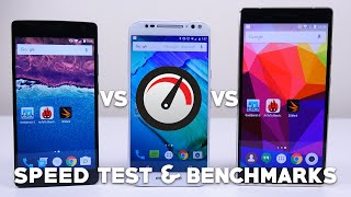 OnePlus 2 vs Moto X Pure Edition vs BLU Pure XL - Speed Test and Benchmarks