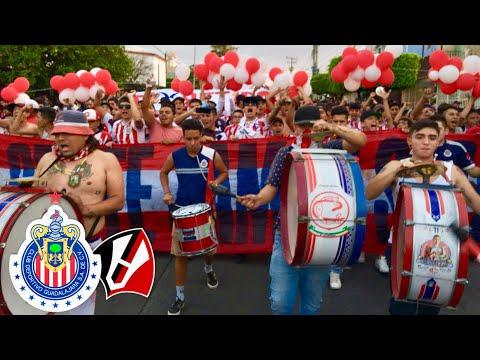 CARAVANA AL ESTADIO JALISCO CON LOS DEL MURO ORIENTE ROJIBLANCO - ATLAS VS CHIVAS 1-0