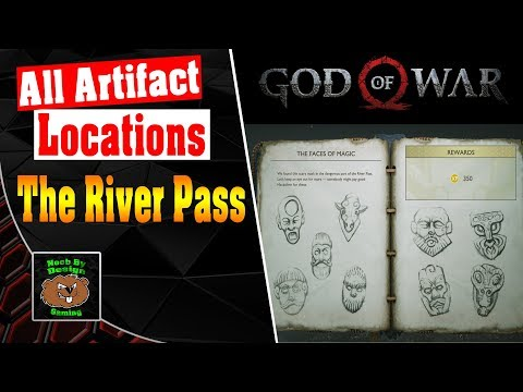God of War -  All Artifact Locations for The River Pass -  Artifact Set The Faces of Magic