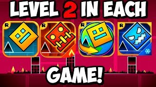 LEVEL 2 COMPARISON! Geometry Dash: SUBZERO, MELTDOWN, WORLD AND DASH