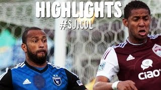 HIGHLIGHTS: San Jose Earthquakes vs. Colorado Rapids | May 7, 2014