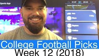 Week 12 Football Picks (2018) | NCAAF College Betting Predictions | CFB Vegas Lines & Odds (NCAA)