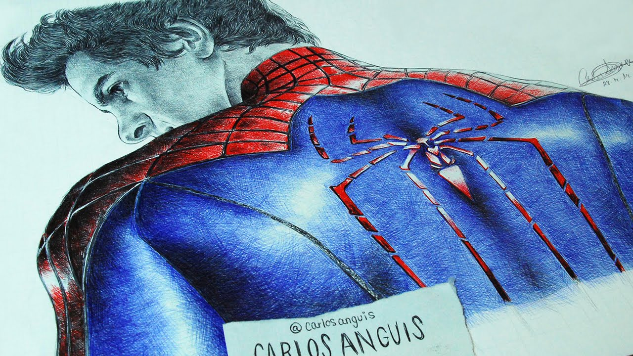 Drawing Spiderman Andrew Garfield  YouTube