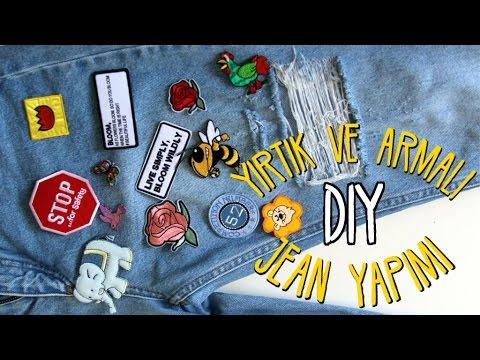 Kot Nasıl Yırtılır ?/ KENDİN YAP / DIY Ripped and Patched Denim