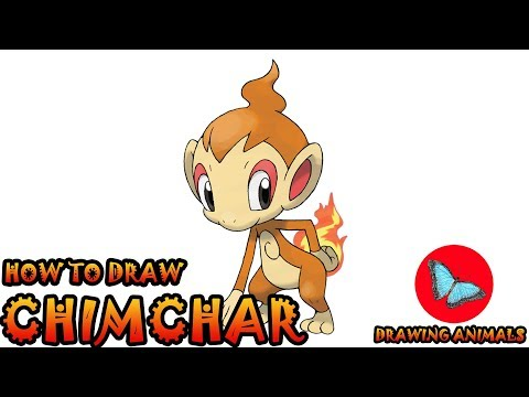 How To Draw Chimchar Pokemon | Coloring and Drawing For Kids
