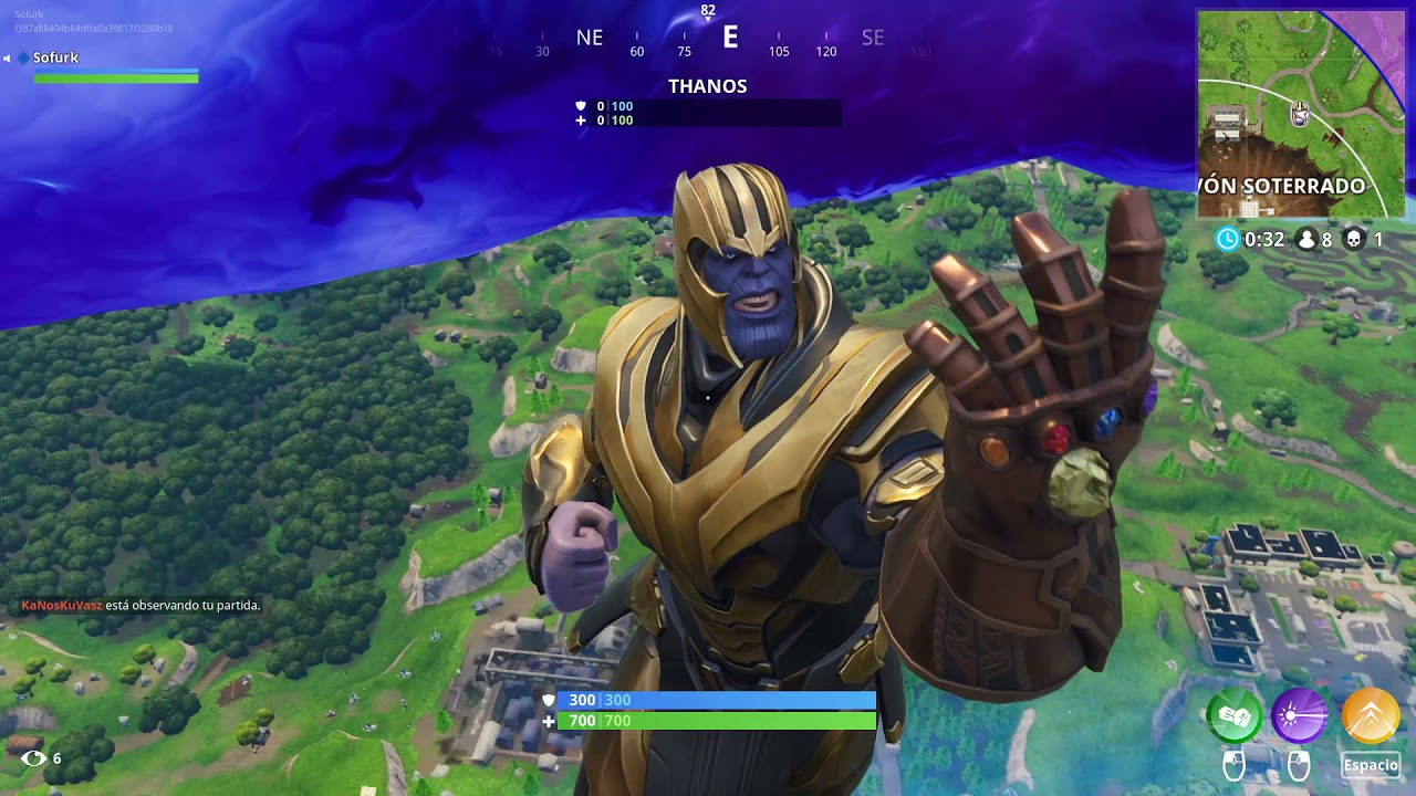 how to become thanos fortnite