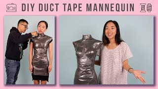 DIY Duct Tape Mannequin | Under $20 Dress Form!