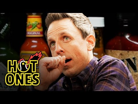 Toby Knapp - WATCH: Seth Meyers FAILS taking the SPICY WINGS CHALLENGE!