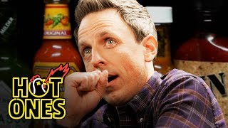 seth-meyers-unravels-while-eating-spicy-wings-hot-ones