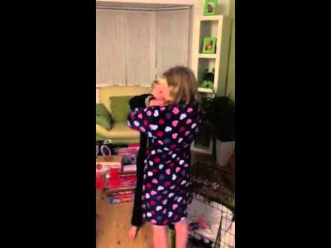 Girl gets a surprise pug for Christmas .. Amazing