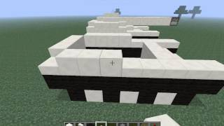 How to make a tank with functional weapons in Minecraft