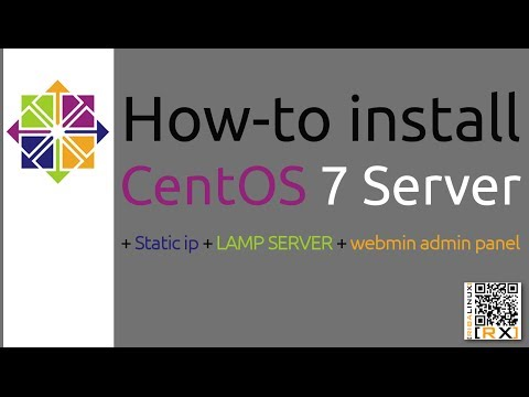 How-to install CentOS 7 Server + Static ip + LAMP SERVER + webmin admin panel [HD]