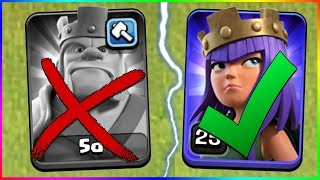 DOWN WITH THE KING... ▶️ Clash of Clans ◀️ KEEP UP THE QUEEN