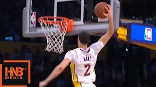 Lonzo Ball Misses Dunk / Cavs vs LA Lakers