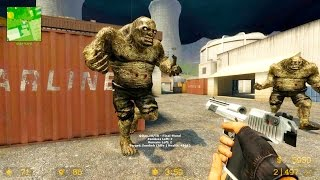 Counter Strike Source - Zombie Riot mod online gameplay on Nuke map