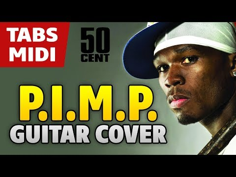 50 Cent – PIMP (acoustic fingerstyle guitar cover by Kaminari + midi)